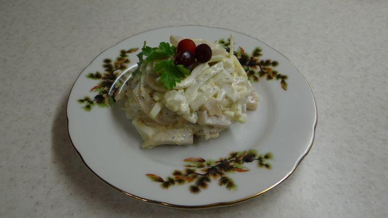 салат из соленых груздей