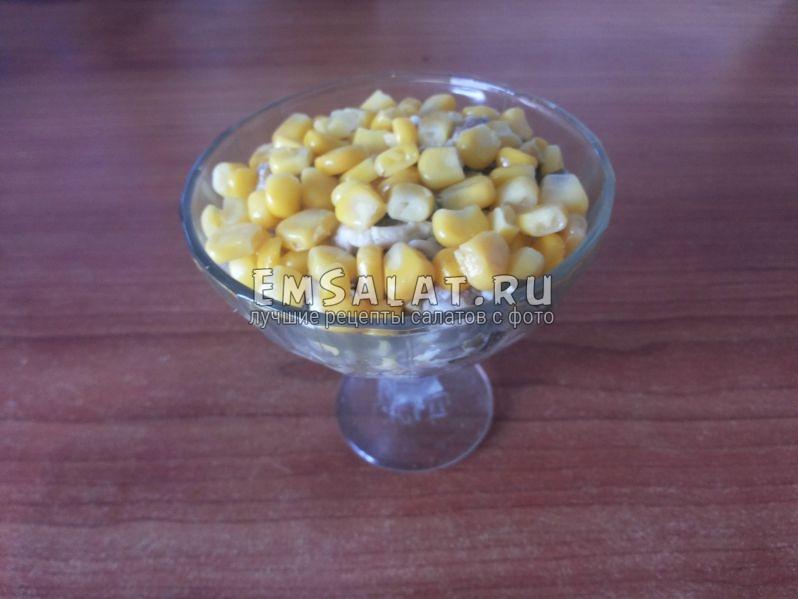 готовый салат в креманке