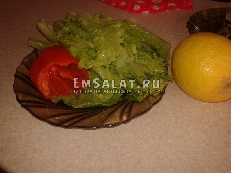 помытые и очищенные овощи