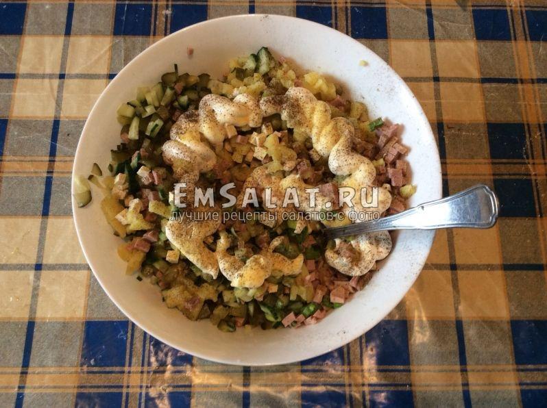 вегетарианский салат оливье рецепт