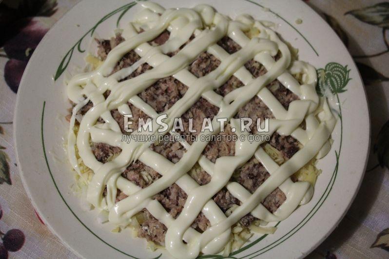 рыбный салат мимоза рецепт