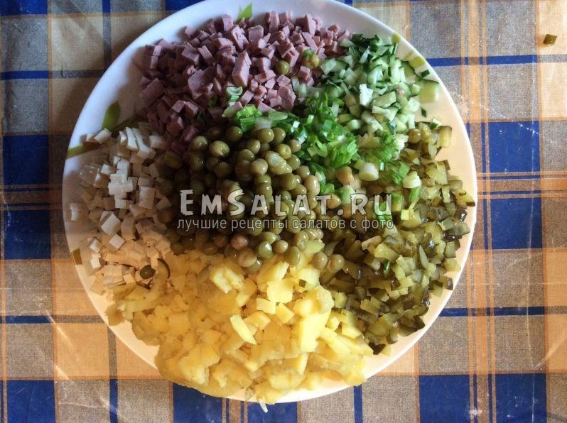 салат оливье вегетарианский рецепт