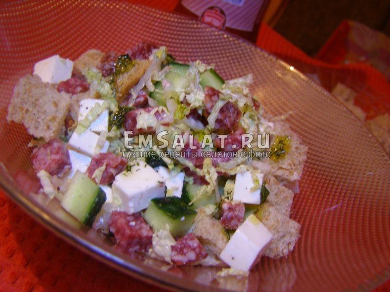 выложим порционно в салатницу