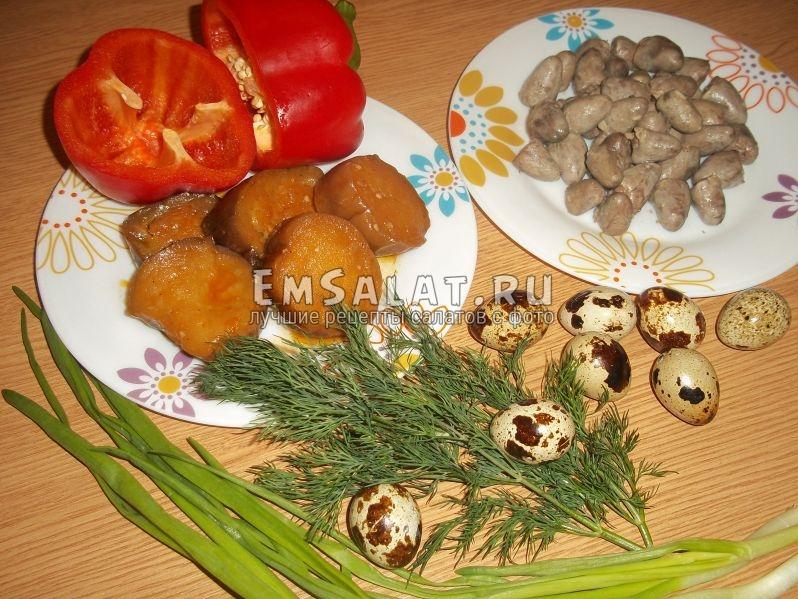 Продукты для кавказского салата