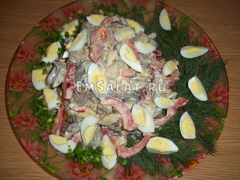 Кавказский салат из сердечек готов