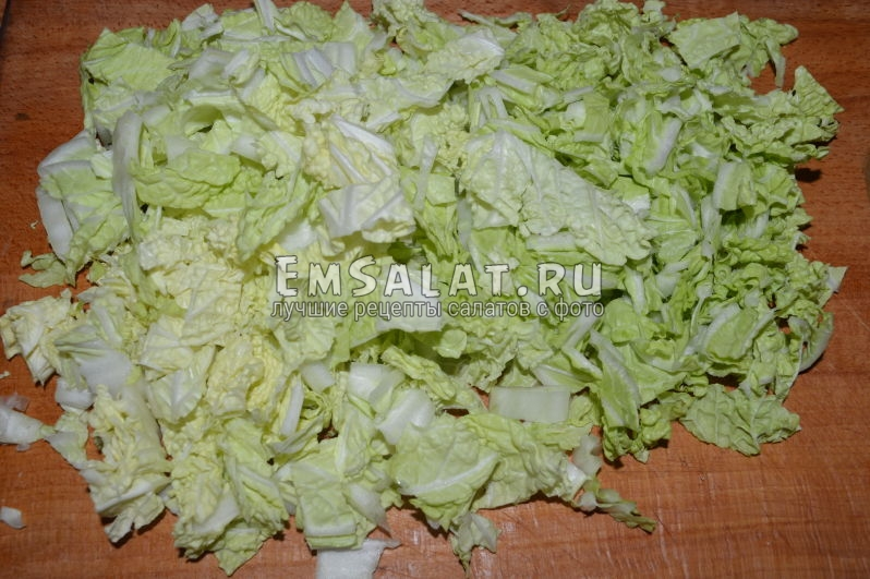 Как нарезать пекинскую капусту