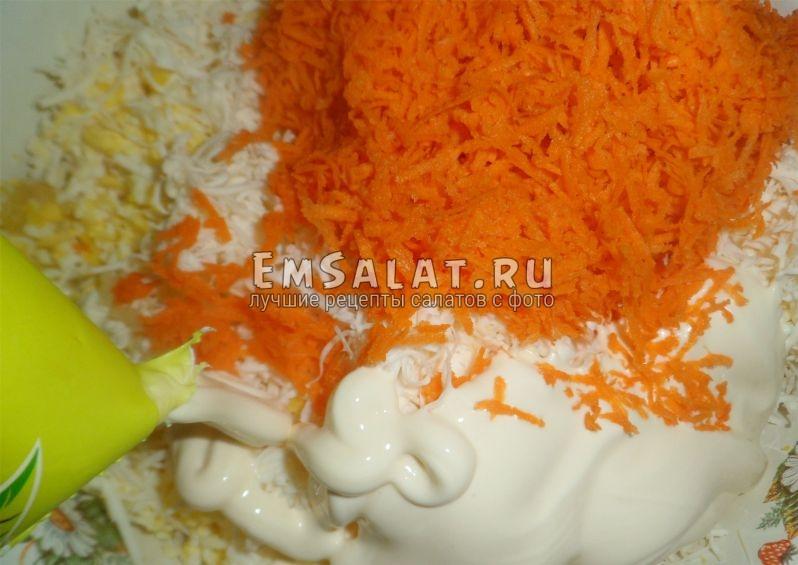 Заготовка для салата из плавленных сырков