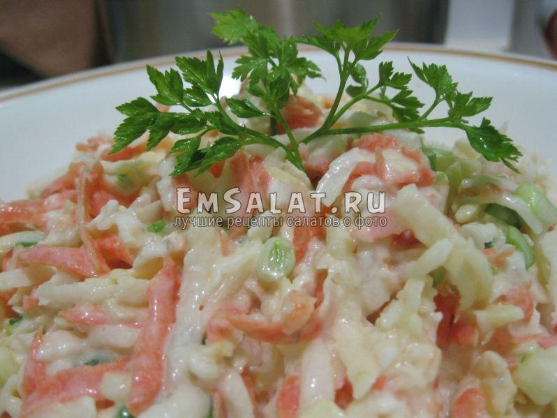 готовый салат из редьки дайкон