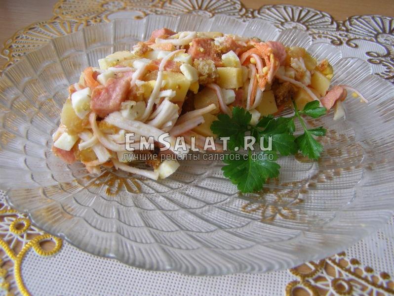 сытный салат рецепт с фото