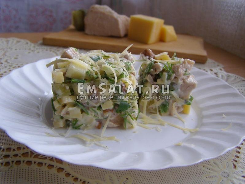 вот можно подать салат с филе индейки