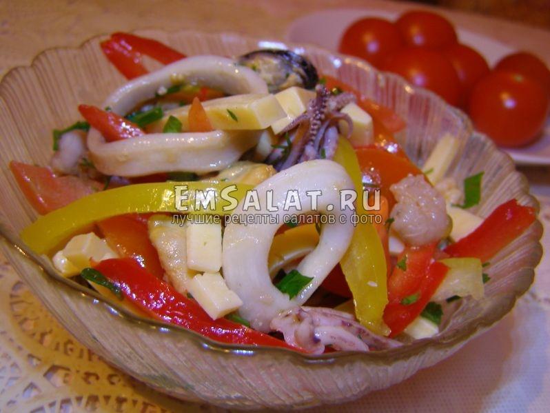 рецепты салатов на новый год из морепродуктов
