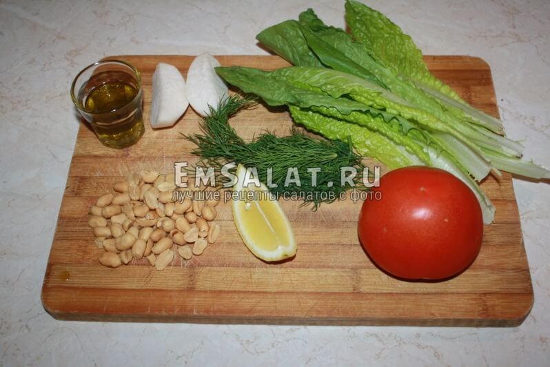 список ингредиентов для салата