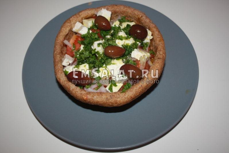 рецепт греческого салата с сыром фетакса