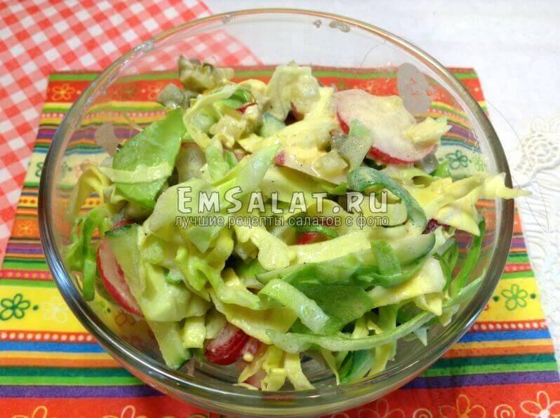 Готовый салат под соусом тартар