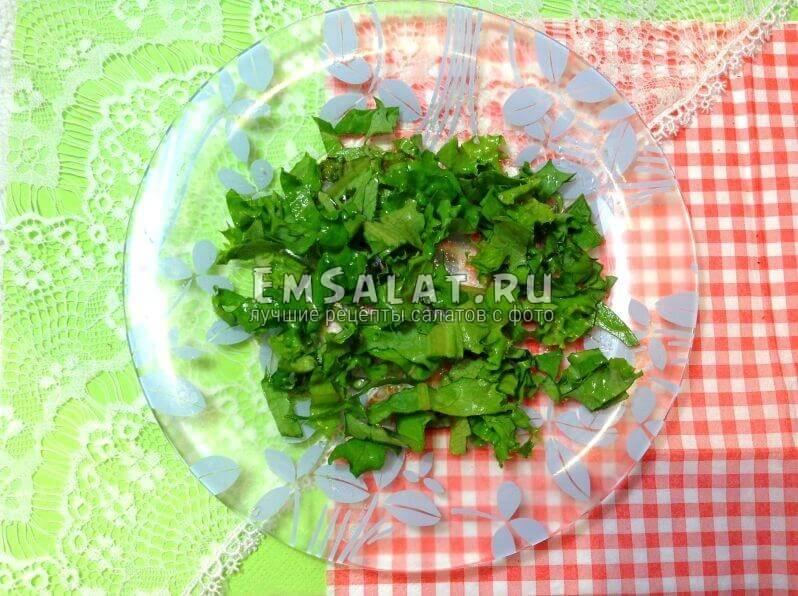 салатные листья,подготовка