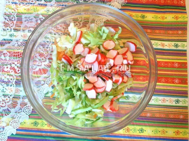 порезанные ингредиенты для салата