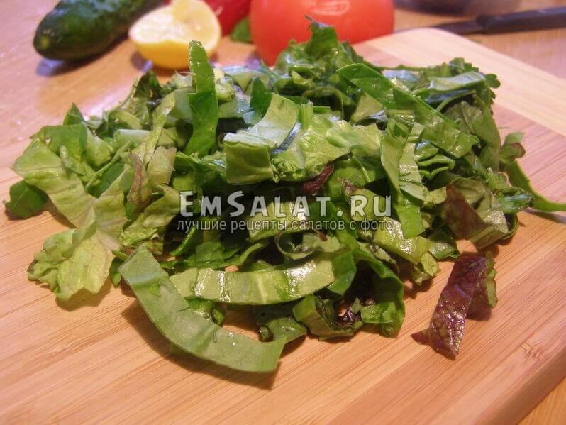 соломка листьев салата и шпината