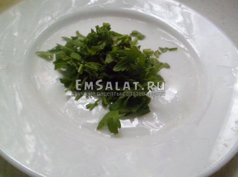 Порезанный крес-салат