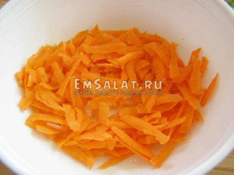 морковь после терки