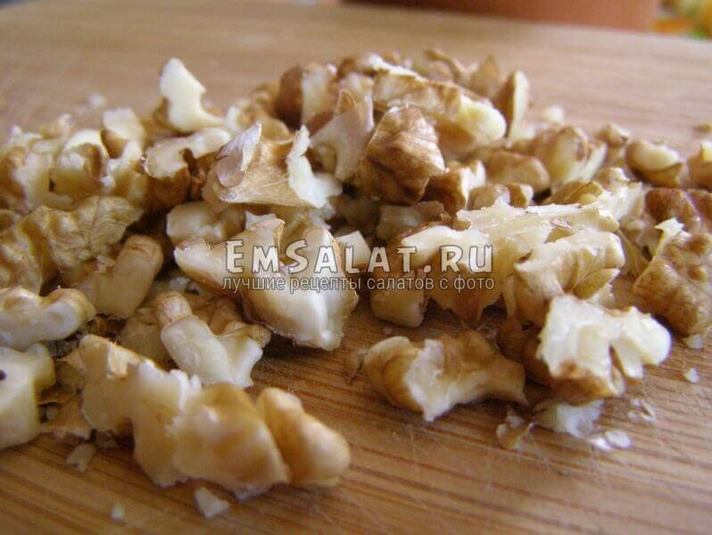 кусочки орехов