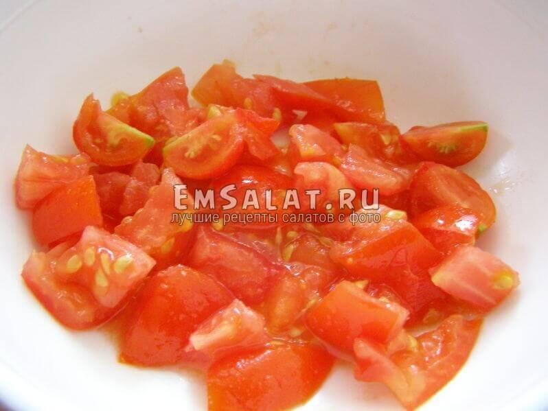 кубики помидор