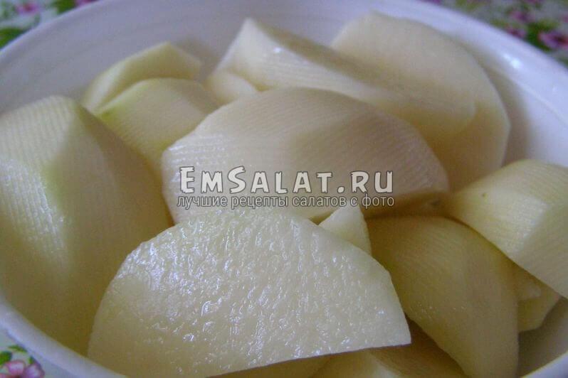 картошка, ломтики