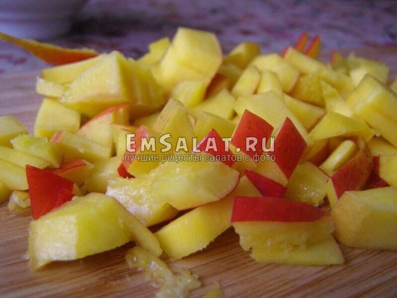нарезаный манго