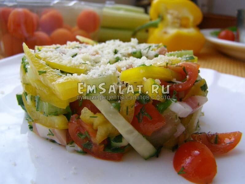 Простые легкие салаты рецепты с