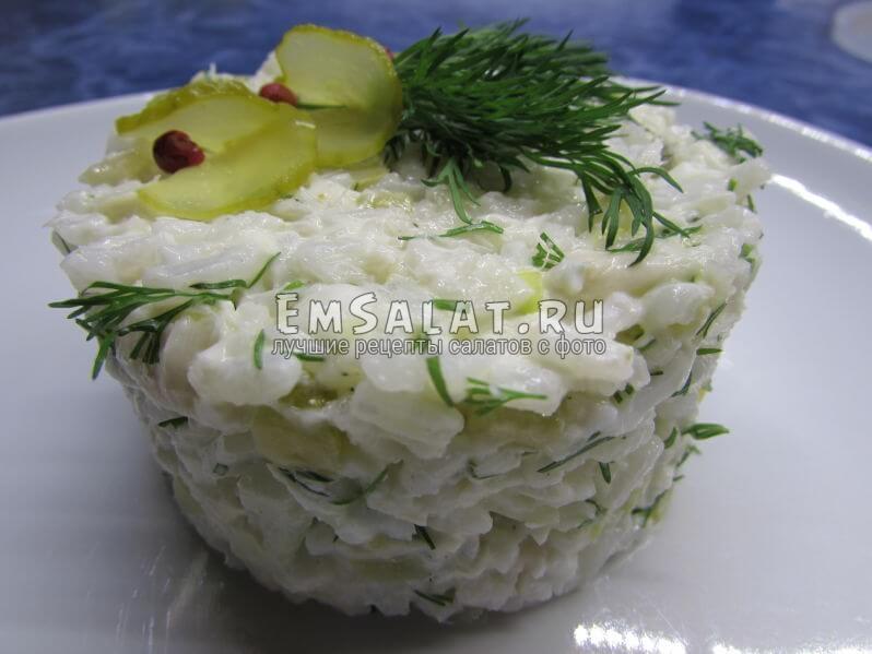 Салат с запечённой пикшей