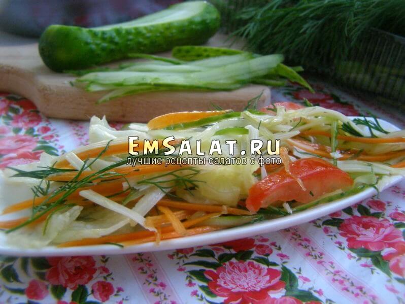 Салаты из листьев салата рецепты с фото