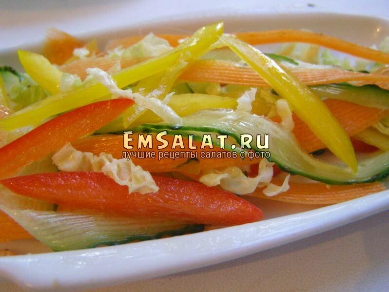 салат с соком лимона