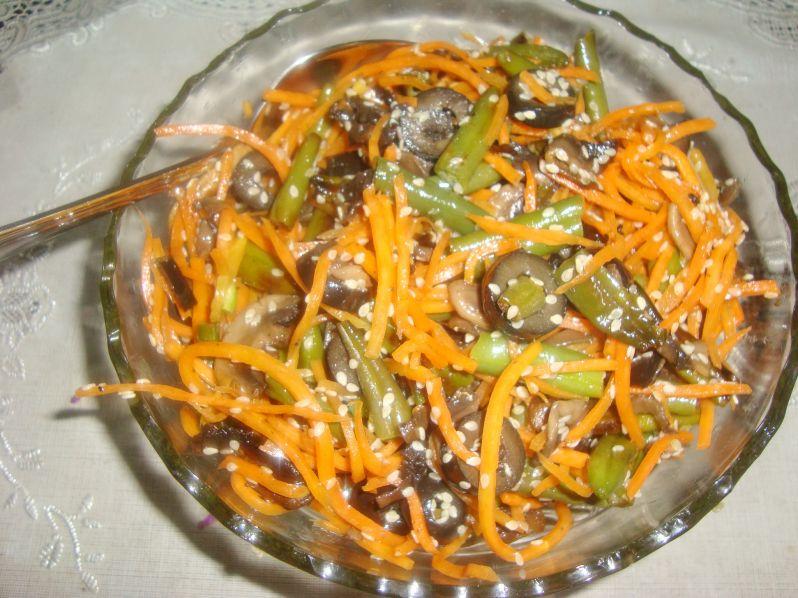 салат с стручковой фасолью