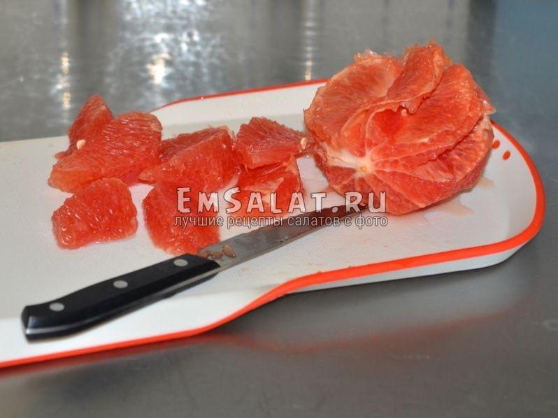Подготовка грейпфрута