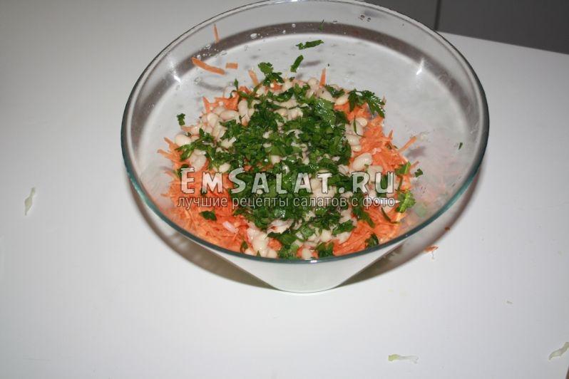 не перемешанный салат