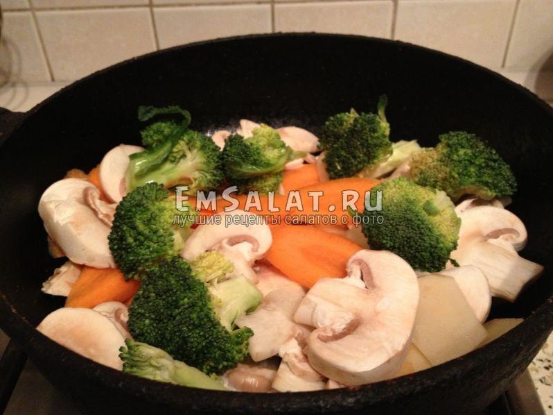 овощи на сковородке