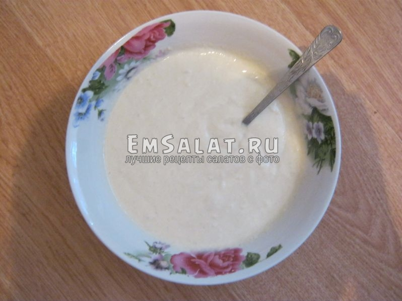 Тесто для оладушек в салат