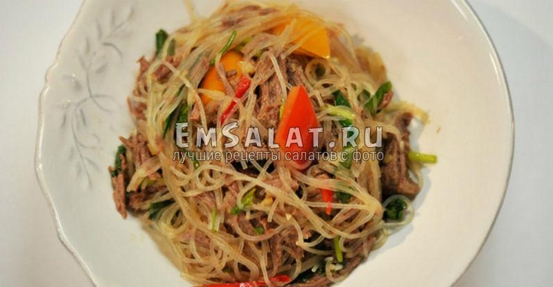 Китайский салат из говядины