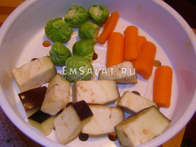 овощи отправим на пар