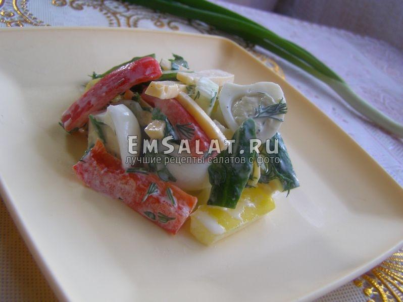 вот так выглядит готовый салатик
