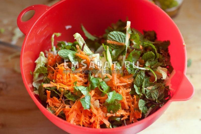 овощная основа салата