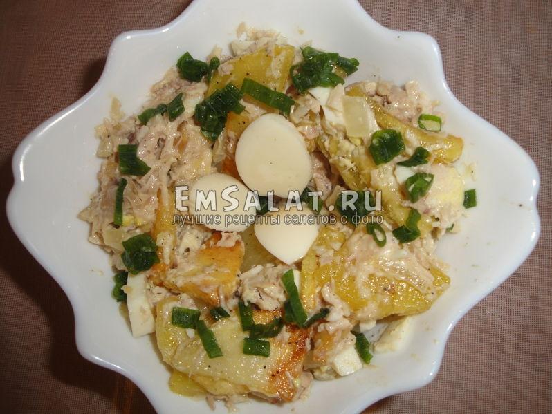готовый украшенный салат