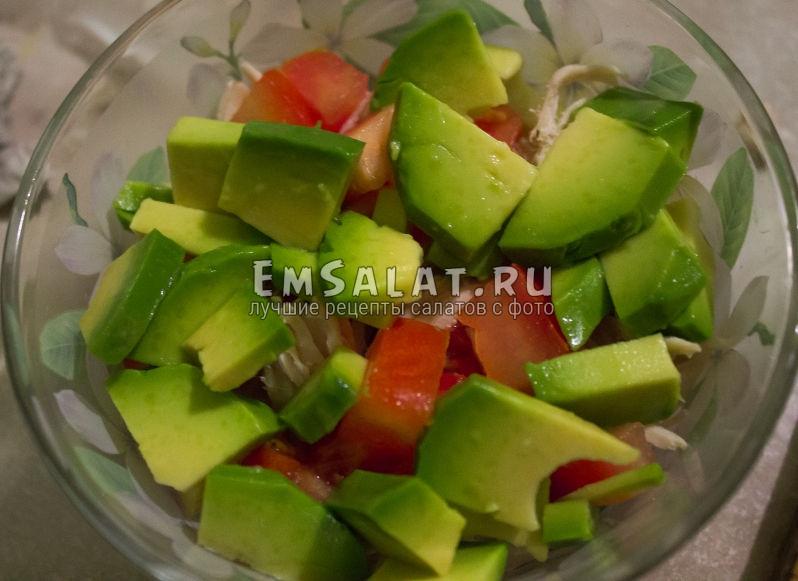 нарезка авокадо в салат