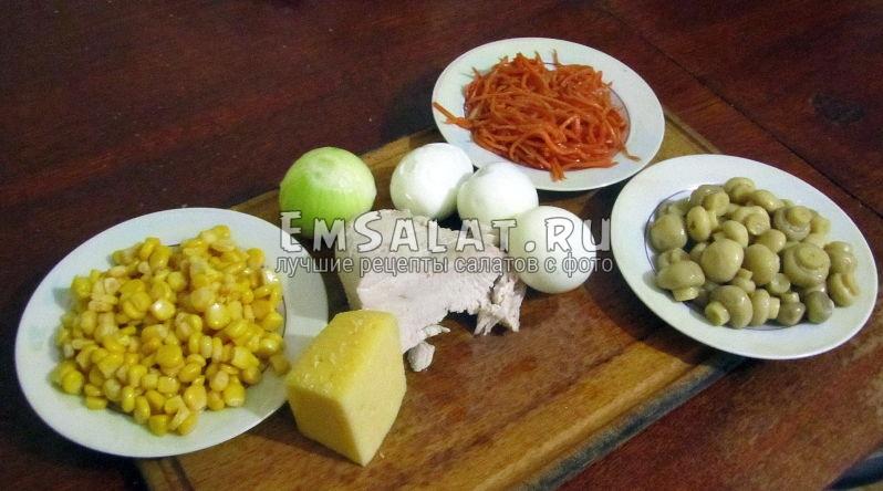 ингредиенты салата из индейки