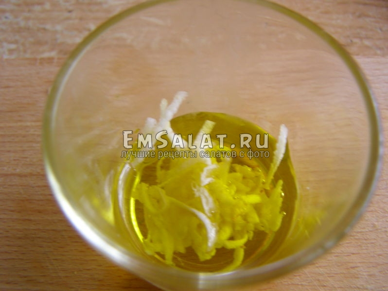 салатная заправка из оливкового масла
