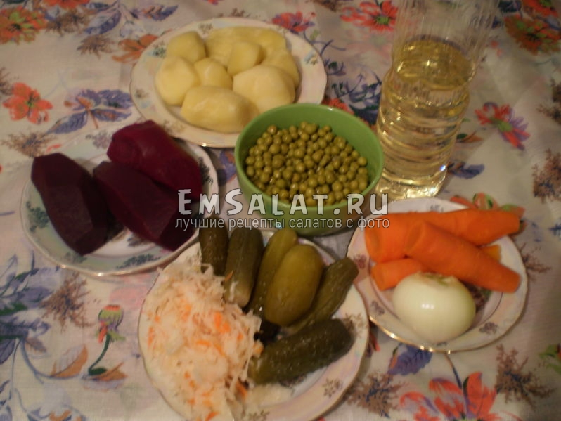 Игредиента для салата Винегрет классический