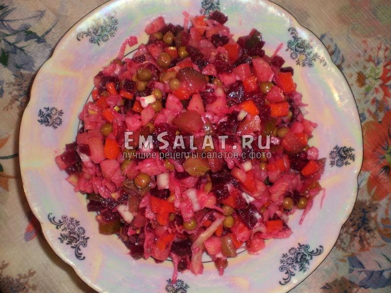 Готовый винегрет рецепт классический с капустой
