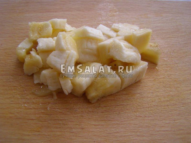 банан нарезан на кусочки
