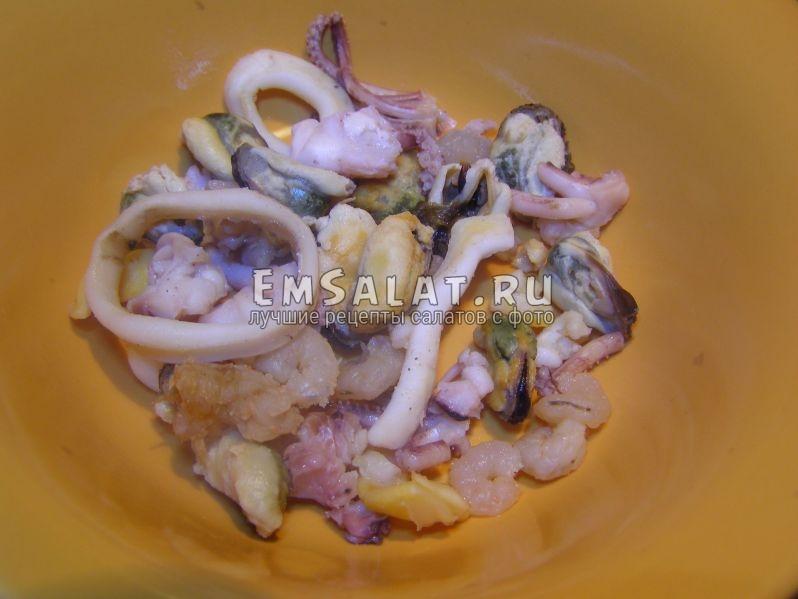 морепродукты отварные