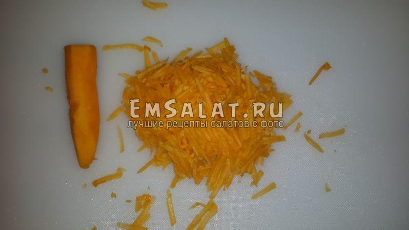 морковь тертая на крупной терке