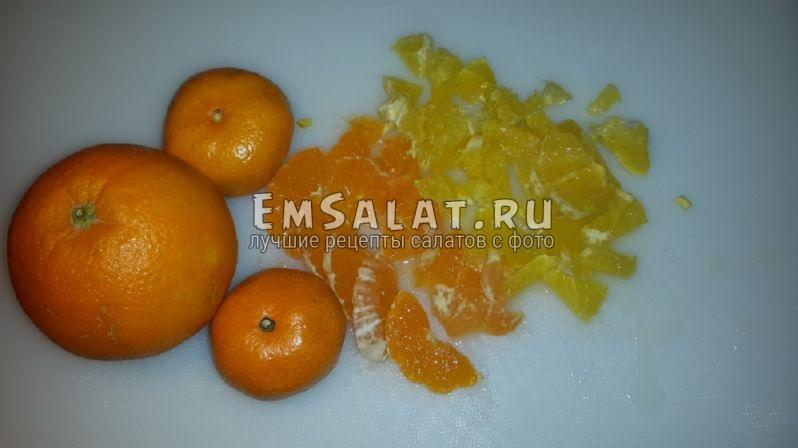 апельсины мандарины измельченный